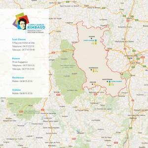 Implantation du Centre Rimbaud dans la Loire